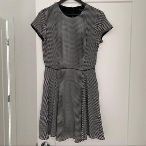 Zara A-line Houndstooth Dress.